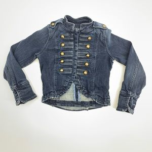 GAP KIDS MILITARY BAND BLUE DENIM JACKET Small